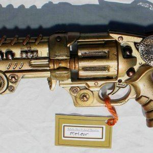 "BeaslePunk Artistry Accents - ""Meteor"" - Steampunk Art/Cosplay Prop"
